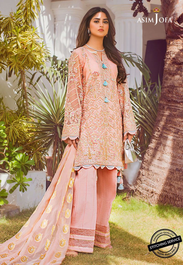 Shop NOW ASIM JOFA | VASL COLLECTION 2021 | AJVL-07 at our Online Boutique www.LebaasOnline.co.uk. An ethnic suits worked upon rust Cotton Net base. Indian Pakistani Designer Party wear dresses 2021 collection in the UK & USA Online for SALE. Browse ASIM JOFA | VASL COLLECTION 2021  - AJVL-07 Wedding Salwar Suits.