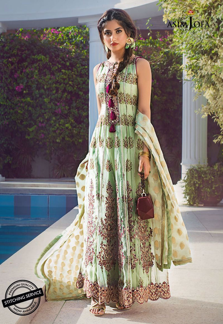 Shop NOW ASIM JOFA | VASL COLLECTION 2021 | AJVL-06 at our Online Boutique www.LebaasOnline.co.uk. An ethnic suits worked upon rust Cotton Net base. Indian Pakistani Designer Party wear dresses 2021 collection in the UK & USA Online for SALE. Browse ASIM JOFA | VASL COLLECTION 2021  - AJVL-06 Wedding Salwar Suits.