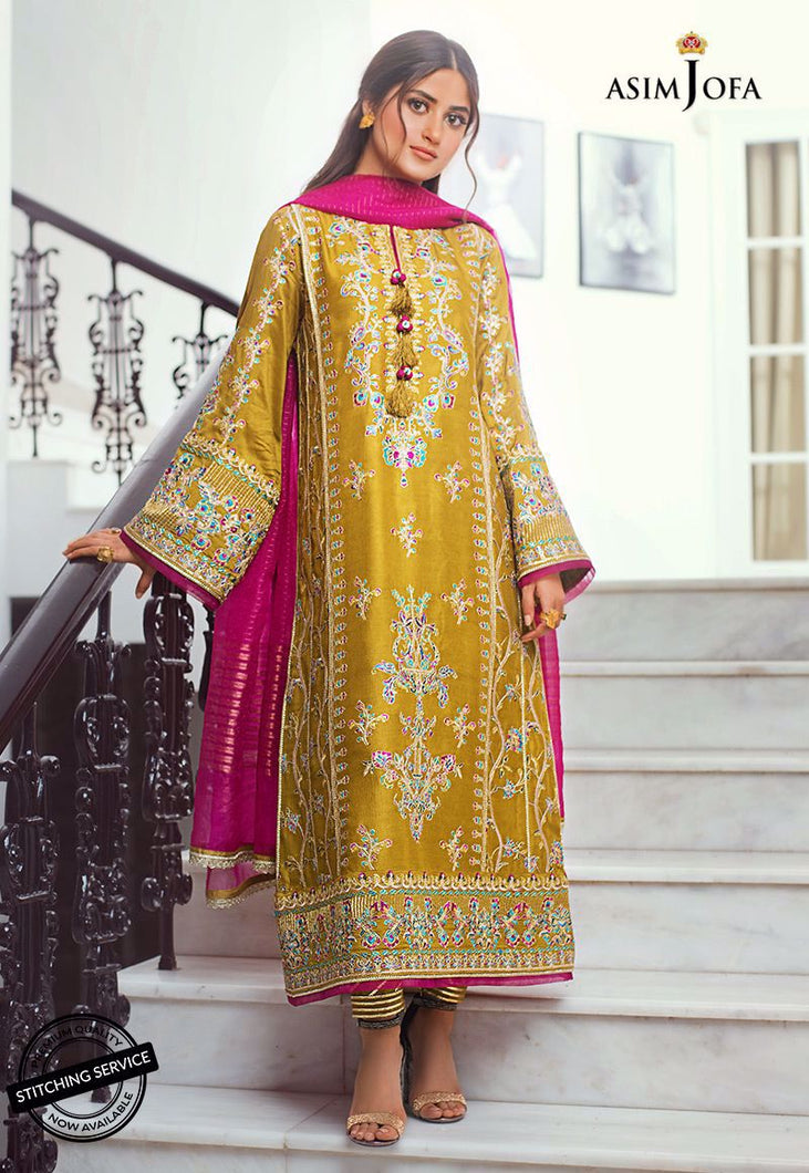 Shop NOW ASIM JOFA | VASL COLLECTION 2021 | AJVL-04 at our Online Boutique www.LebaasOnline.co.uk. An ethnic suits worked upon rust Cotton Net base. Indian Pakistani Designer Party wear dresses 2021 collection in the UK & USA Online for SALE. Browse ASIM JOFA | VASL COLLECTION 2021  - AJVL-04 Wedding Salwar Suits.