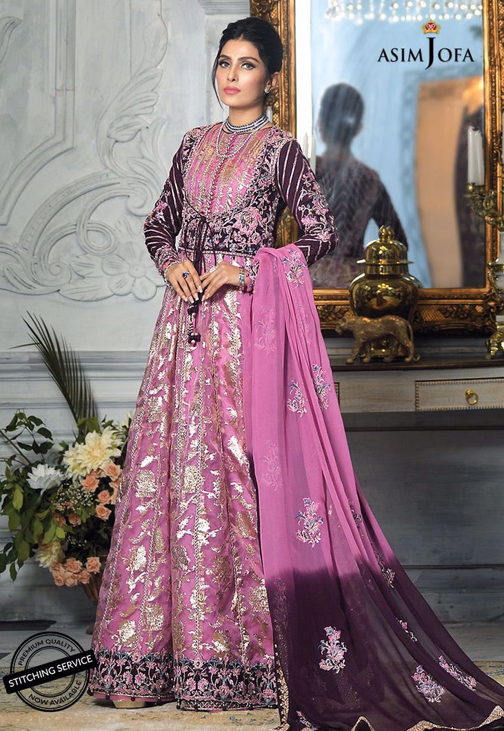 Buy ASIM JOFA MAHSA FESTIVE COLLECTION | AJMC-07 Lilac Pakistani Chiffon Wedding dresses exclusively from lebaasonline website We are largest stockists of Asim Jofa Collection 2021 Maria B Gulal & Pakistani Celebrities Clothes Pakistani Branded designer suits are available online in the UK USA Scotland London New York