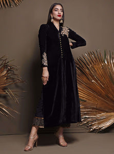ZAINAB CHOTTANI PAKISTANI PARTY WEAR SUITS UK -Velvet- bLACK sANDSTONE Black Chiffon, Embroidered Collection at our Pakistani Designer Dresses Online Boutique. Pakistani Clothes Online UK- SALE, Zainab Chottani Wedding Suits, Luxury Lawn & Bridal Wear & Ready Made Suits for Pakistani Party Wear UK on Discount Price