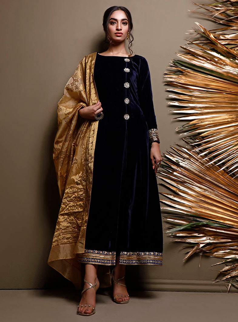 ZAINAB CHOTTANI PAKISTANI PARTY WEAR SUITS UK -Velvet- MIDNIGHT GEODE Black Chiffon, Embroidered Collection at our Pakistani Designer Dresses Online Boutique. Pakistani Clothes Online UK- SALE, Zainab Chottani Wedding Suits, Luxury Lawn & Bridal Wear & Ready Made Suits for Pakistani Party Wear UK on Discount Price