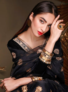 ZAINAB CHOTTANI PAKISTANI PARTY WEAR SUITS UK -Velvet- EBONY TOPAZ Black Chiffon, Embroidered Collection at our Pakistani Designer Dresses Online Boutique. Pakistani Clothes Online UK- SALE, Zainab Chottani Wedding Suits, Luxury Lawn & Bridal Wear & Ready Made Suits for Pakistani Party Wear UK on Discount Price