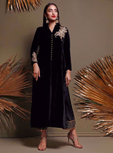 Load image into Gallery viewer, ZAINAB CHOTTANI PAKISTANI PARTY WEAR SUITS UK -Velvet- bLACK sANDSTONE Black Chiffon, Embroidered Collection at our Pakistani Designer Dresses Online Boutique. Pakistani Clothes Online UK- SALE, Zainab Chottani Wedding Suits, Luxury Lawn & Bridal Wear & Ready Made Suits for Pakistani Party Wear UK on Discount Price