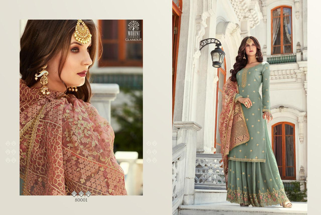 Grey Indian Sharara by Mohini Glamour - DN80001