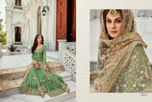 Load image into Gallery viewer, Green Indian Sharara by Mohini Glamour - DN80005