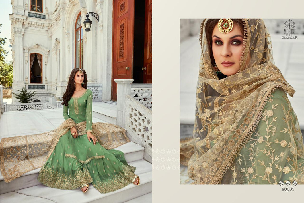 Green Indian Sharara by Mohini Glamour - DN80005