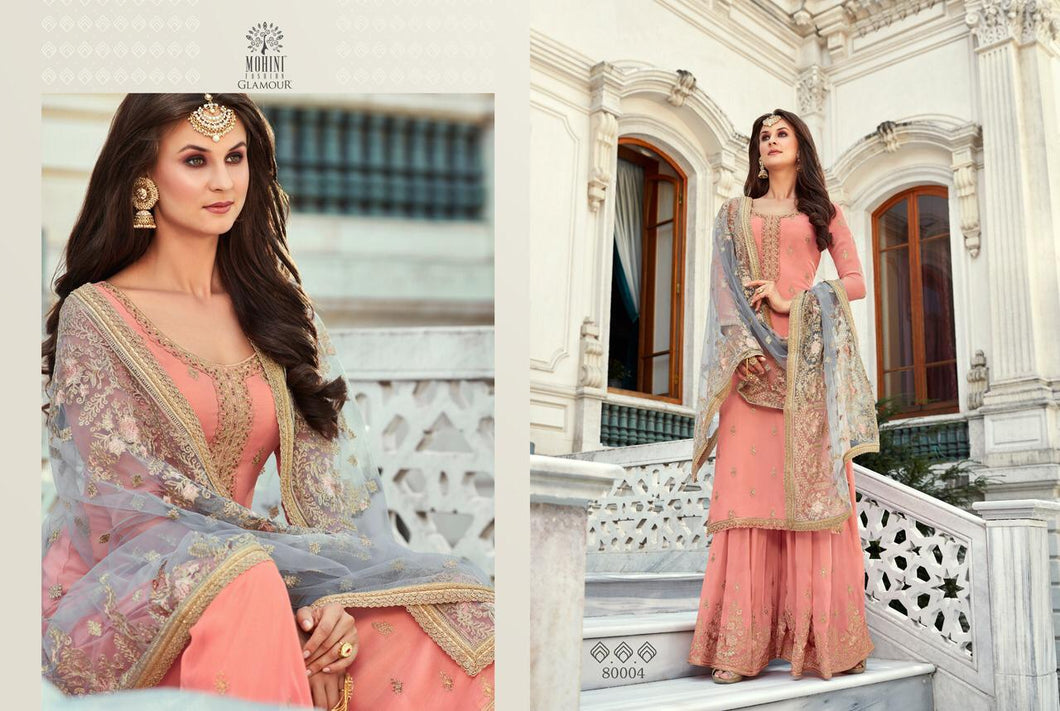 Baby Pink Indian Sharara by Mohini Glamour - DN80004