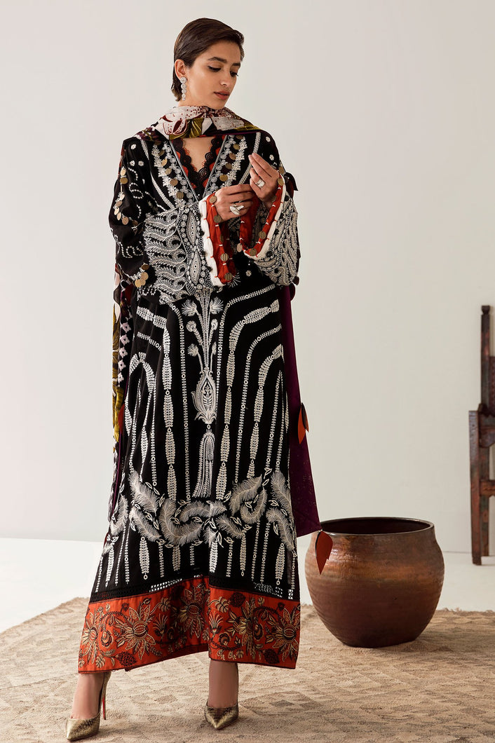 ELAN WINTER COLLECTION 2020 - EW20-10 PAKISTANI DRESSES & READY MADE PAKISTANI CLOTHES UK. Buy Now Elan UK Embroidered Collection of Winter Lawn, Original Pakistani Brand Clothing, Unstitched & Stitched suits for Indian Pakistani women. Next Day Delivery in the UK. Express shipping to USA, France, Germany & Australia.