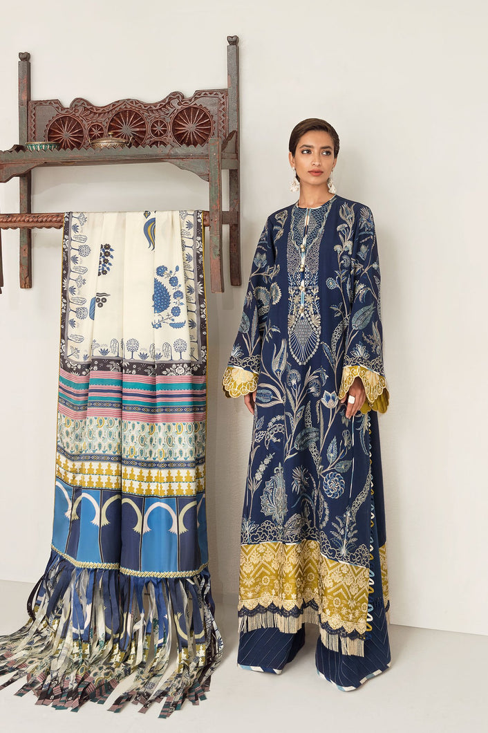 ELAN WINTER COLLECTION 2020 - EW20-09 PAKISTANI DRESSES & READY MADE PAKISTANI CLOTHES UK. Buy Now Elan UK Embroidered Collection of Winter Lawn, Original Pakistani Brand Clothing, Unstitched & Stitched suits for Indian Pakistani women. Next Day Delivery in the UK. Express shipping to USA, France, Germany & Australia.