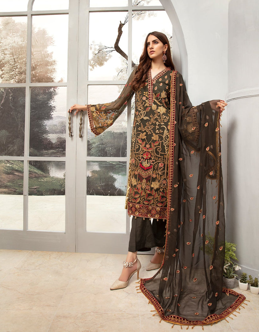 Emaan Adeel Chiffon Collection 2020 Volume 12 - EA:1208