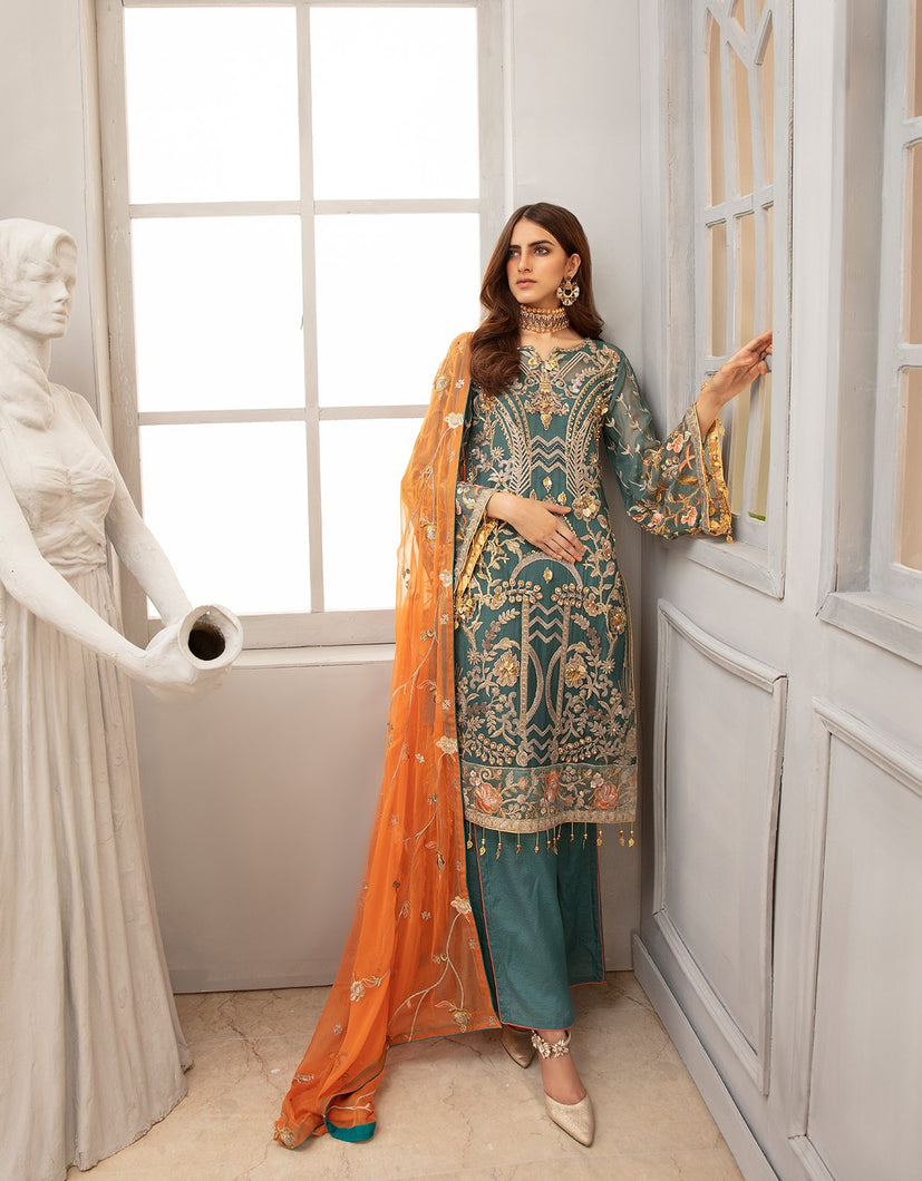 Emaan Adeel Chiffon Collection 2020 Volume 12 - EA:1210