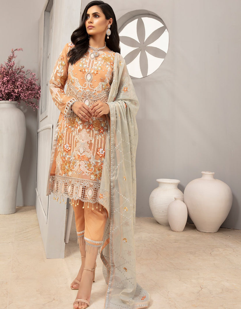 Emaan Adeel Chiffon Collection 2020 Volume 12 - EA:1209
