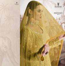 Load image into Gallery viewer, Yellow Sajawat Mekari Indian Gown - DN1004