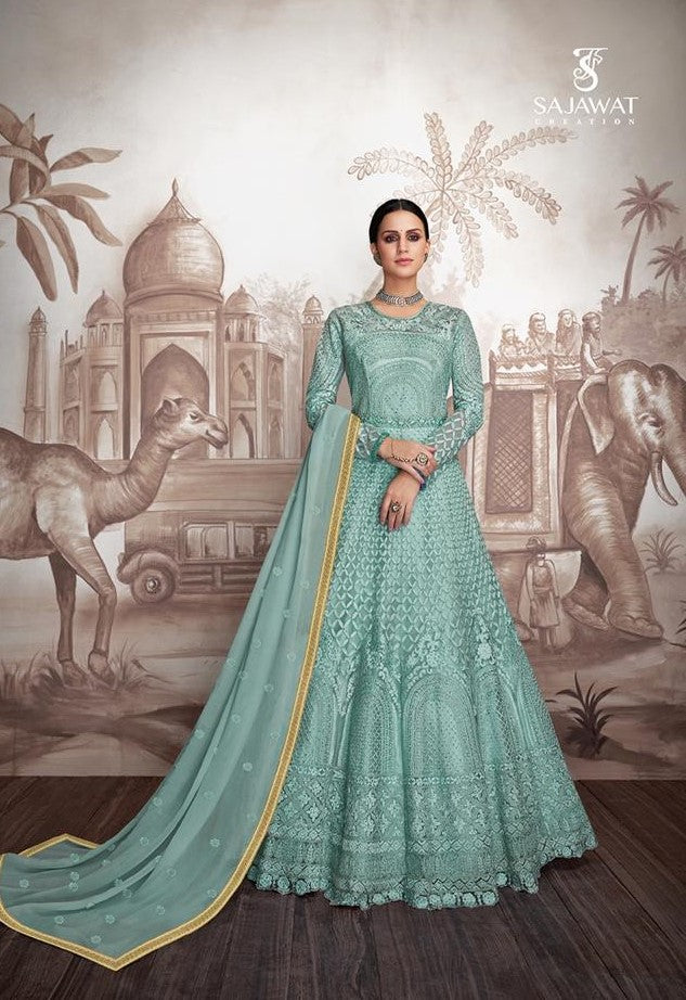 Blue Sajawat Mekari Indian Gown - DN1001