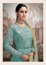 Load image into Gallery viewer, Blue Sajawat Mekari Indian Gown - DN1001