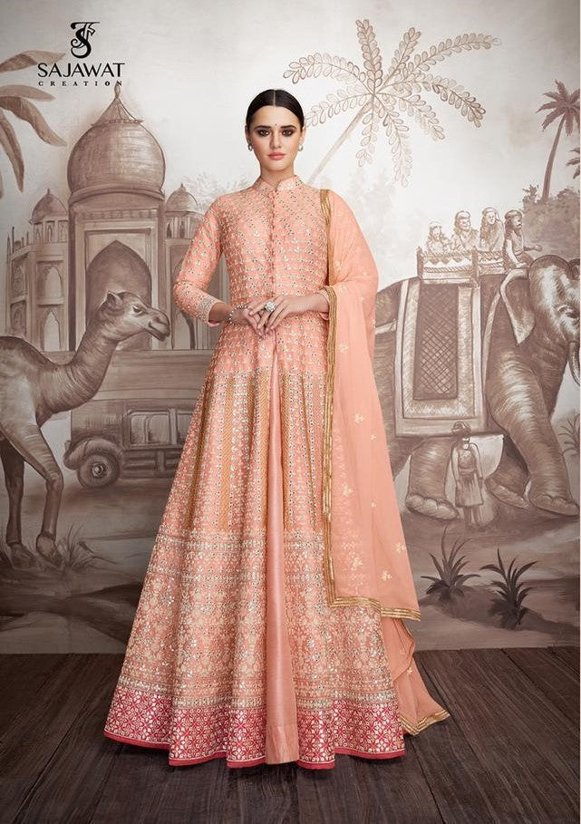 Pink Sajawat Mekari Indian Gown - DN1002