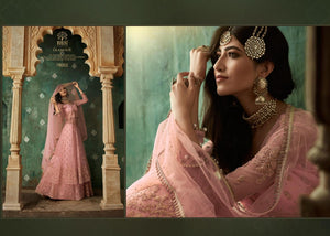 Pink Indian Lehenga by Mohini Glamour - DN78002
