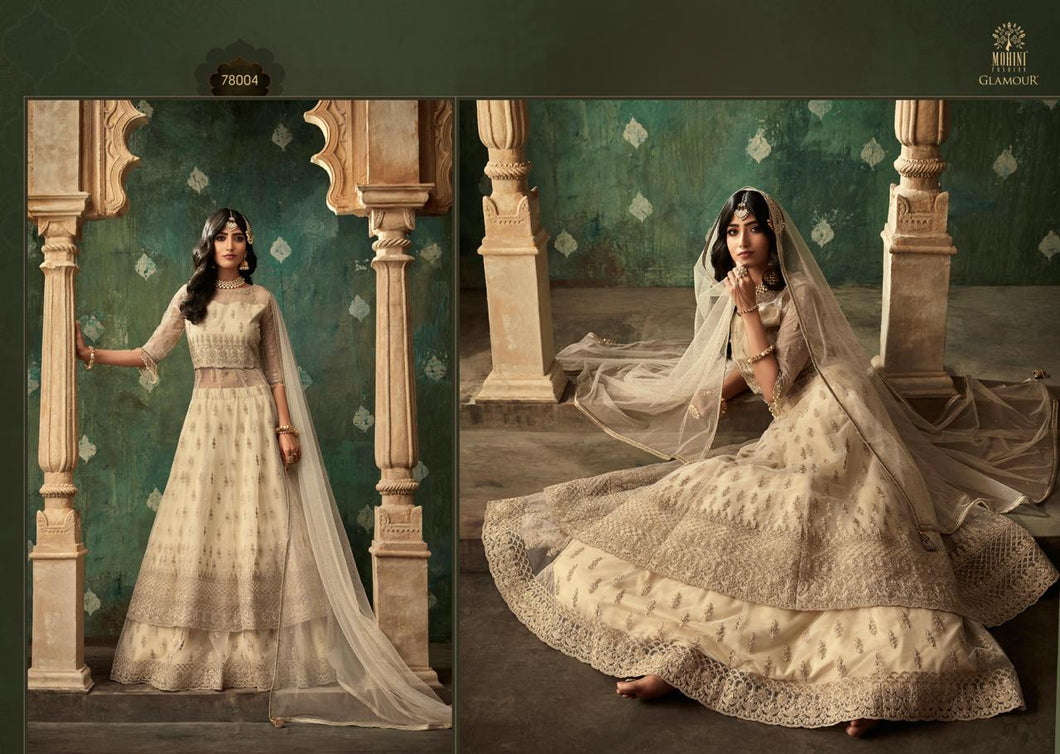 Golden Indian Lehenga by Mohini Glamour - DN78004