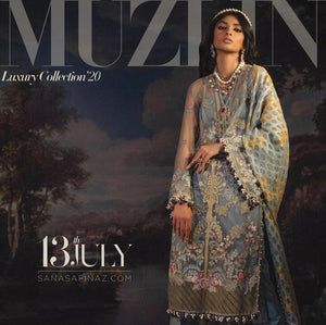 MUZLIN LUXURY LAWN EID COLLECTION 2020 - 06A