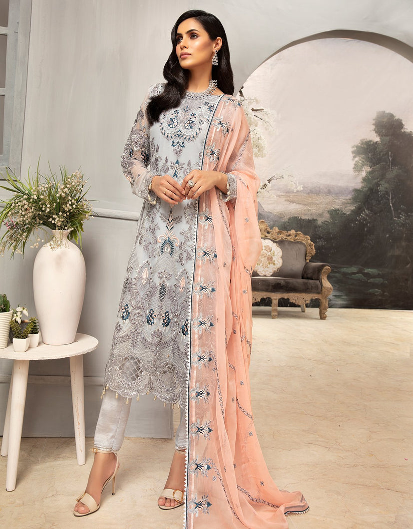 Emaan Adeel Chiffon Collection 2020 Volume 12 - EA:1207