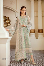 Load image into Gallery viewer, MINT TEA - Baroque Chantelle Chiffon Pakistani Suit