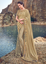 Load image into Gallery viewer, Gold Embroidered Saree