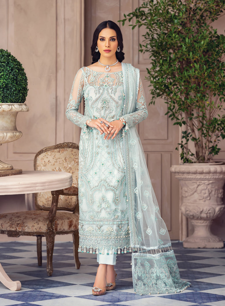 Buy GULAAL Alayna AG-03 Luna Pakistani Designer Party Wear Suit from Lebaasonline at best price .