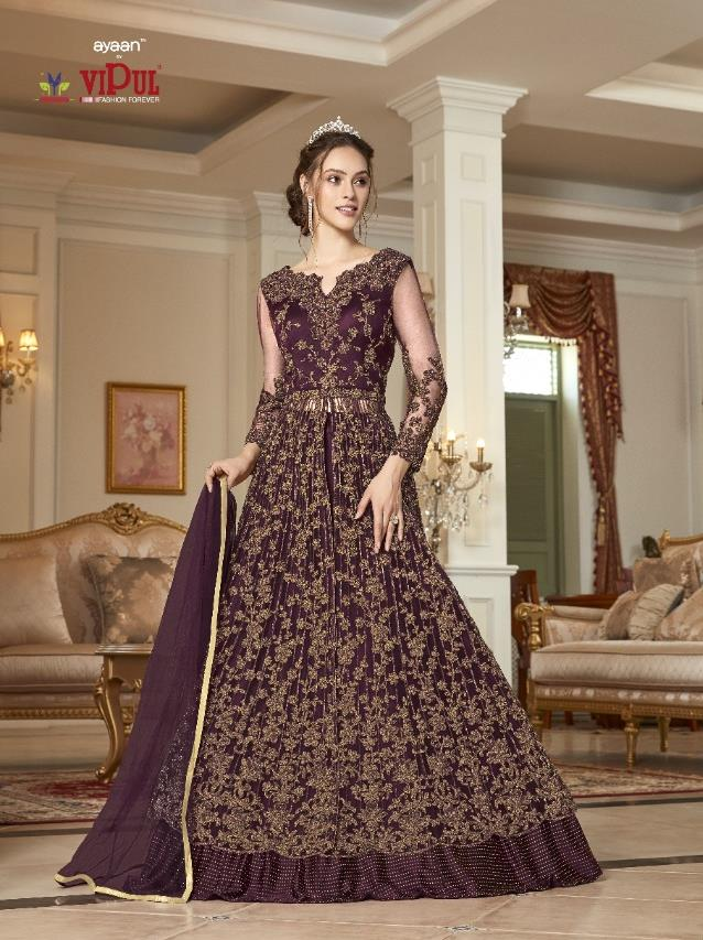 AYANN by Vipul 2020 Designer Anarkali Gowns - Purple