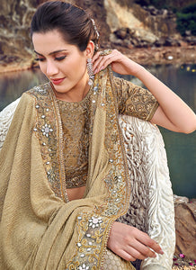 Gold Embroidered Saree