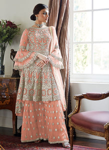 Peach Sharara Suit For Wedding & Party by Aashirwad