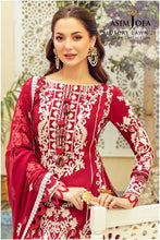 Load image into Gallery viewer, Buy ASIM JOFA LAWN 2021 - RABT, Red from Lebaasonline Pakistani Clothes Stockist in the UK @ best price- SALE ! Shop Noor LAWN 2021, Maria B Lawn 2021 Summer Suits, Pakistani Clothes Online UK for Wedding, Party & Bridal Wear. Indian & Pakistani Summer Dresses by ASIM JOFA  in the UK & USA at LebaasOnline.