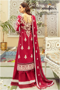 Buy ASIM JOFA LAWN 2021 - RABT, Red from Lebaasonline Pakistani Clothes Stockist in the UK @ best price- SALE ! Shop Noor LAWN 2021, Maria B Lawn 2021 Summer Suits, Pakistani Clothes Online UK for Wedding, Party & Bridal Wear. Indian & Pakistani Summer Dresses by ASIM JOFA  in the UK & USA at LebaasOnline.