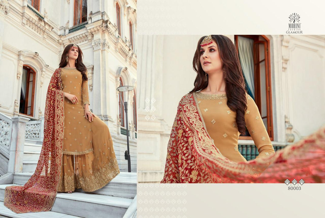 Beige Indian Sharara by Mohini Glamour - DN80003