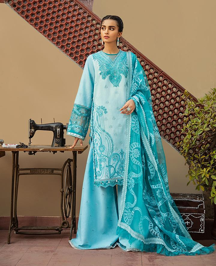 VAADA Eid Collection 2020 - ISTERI - Mu 8 (A) online Pakistani designer dress Anarkali Suits Party Werar Indian Dresses Pakistani Dresses