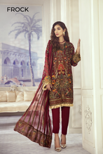 Load image into Gallery viewer, Iznik Designer Suit Wedding 2020-ID-04 CRIMSON GARDEN