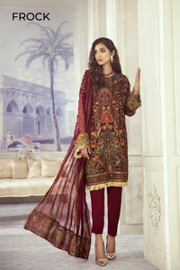 Iznik Designer Suit Wedding 2020-ID-04 CRIMSON GARDEN