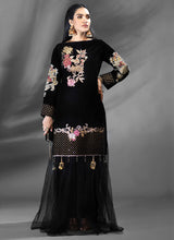 Load image into Gallery viewer, Jet Black Azalea Embroidered Top - LebaasOnline