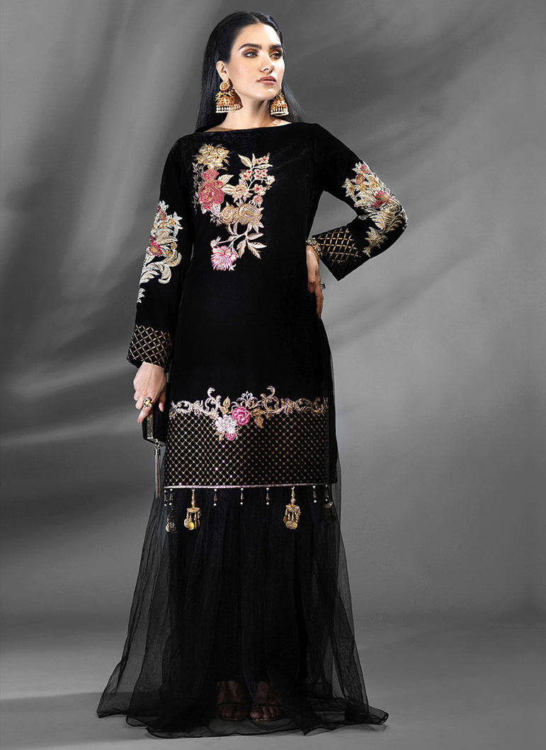 Jet Black Azalea Embroidered Top - LebaasOnline