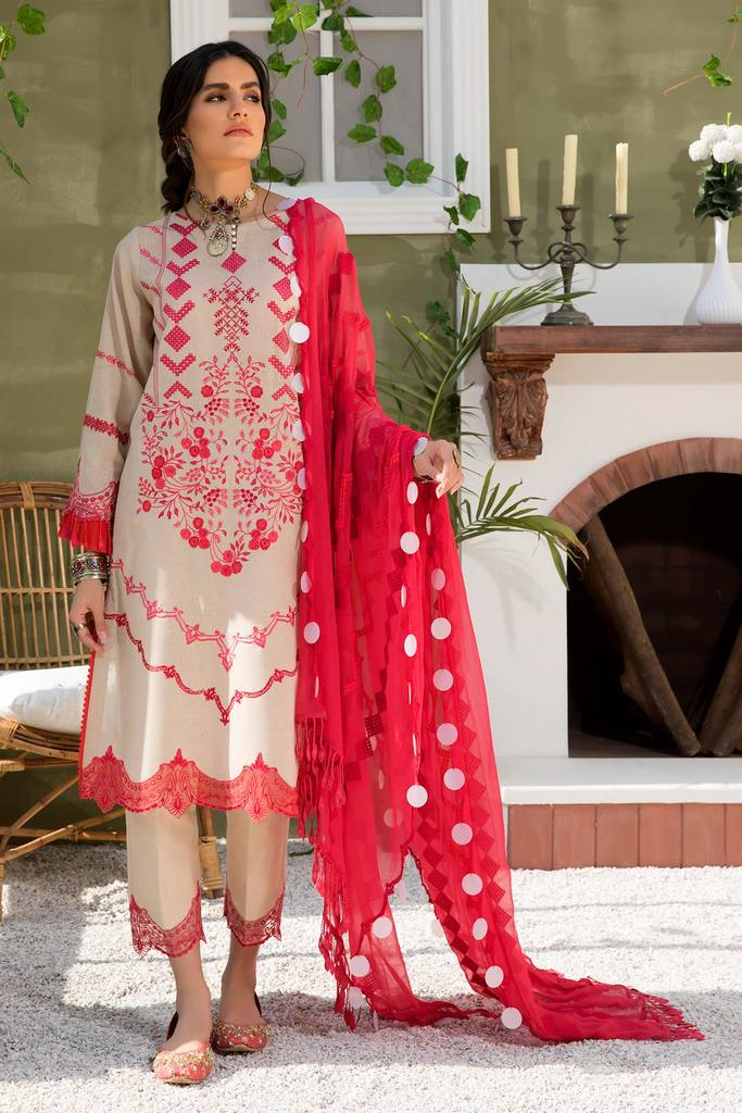 CHARIZMA | SIGNATURE KARANDI LAWN | Crimson Blush CLK-08 : Buy Luxury Summer Lawn Suits by CHARIZMA LAWN 2021 Collection on SALE Price at LEBAASONLINE - largest stockists of Best Pakistani Designer stitched summer dresses such as Latest Fashion MARIA. B. CRIMSON & SANA SAFINAZ LAWN Suits in the UK, London, NEW YORK & USA