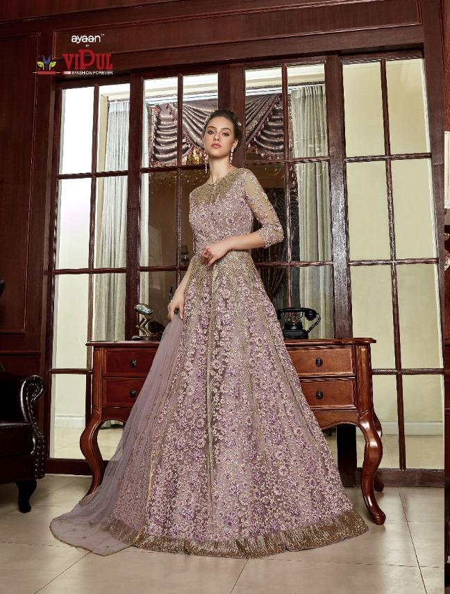 AYANN by Vipul 2020 Designer Anarkali Gowns - Purplish Pink