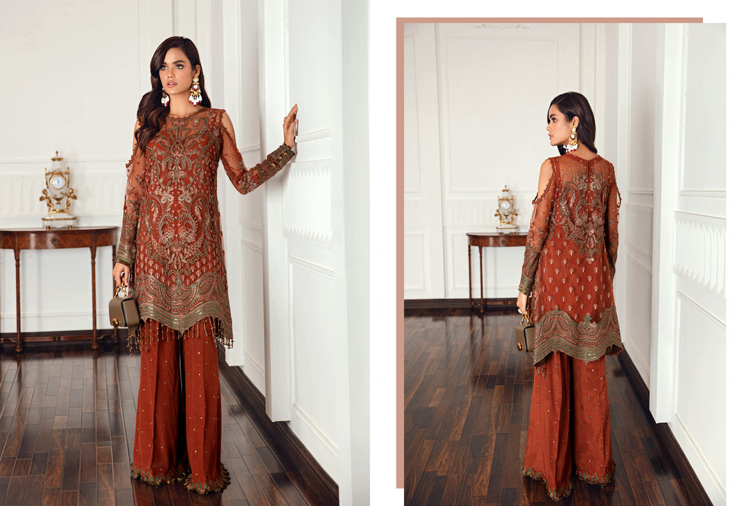 Buy Jazmin D6 | Orissa Pakistani Clothes For Women at Our Online Pakistani Designer Boutique UK, Indian & Pakistani Clothing and readymade Asian Clothes UK Jazmin Suits, Baroque Embroidered Chiffon Collection 2021 & Eid Collection Outfits in USA on discount price exclusively available at our Online store Lebaasonline