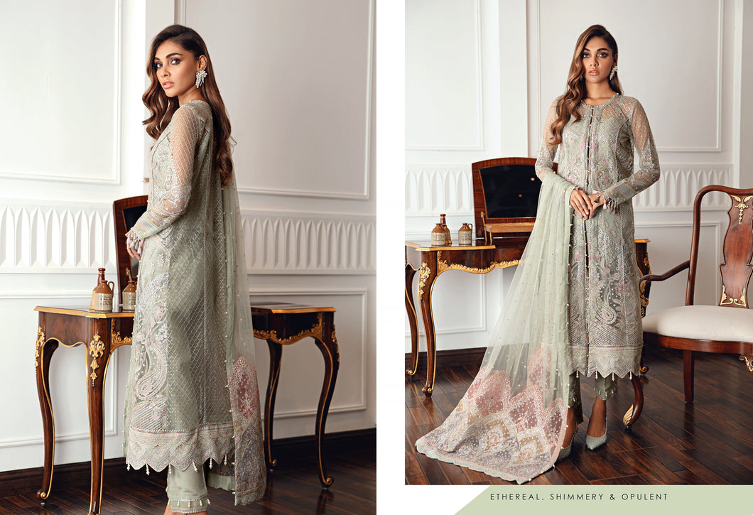 Buy Jazmin D4 | Melia Pakistani Clothes For Women at Our Online Pakistani Designer Boutique UK, Indian & Pakistani Clothing and readymade Asian Clothes UK Jazmin Suits, Baroque Embroidered Chiffon Collection 2021 & Eid Collection Outfits in USA on discount price exclusively available at our Online store Lebaasonline