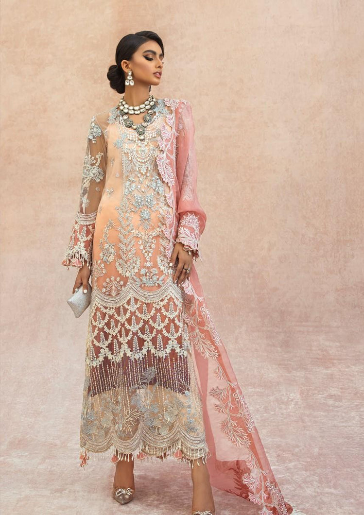 Buy  Nura - Luxury Festive 21 | 03 Peach Chiffon festive Eid collection dresses from our official website. The Sana Safinaz 2021 Eid chiffon collection is trending these day Sana Safinaz 2021 Maria b Eid collection 2021 asim jofa 2021 all available in unstitched and customized Buy Eid dress from Lebaasonline in UK, USA