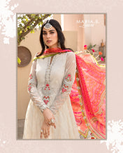 Load image into Gallery viewer, Buy MARIA.B. Lawn Eid Collection 2021 5 White Lawn Eid 2021 dress unstitched and Stitched. MARIA B EID COLLECTION 2021 Rejoice this Eid ambiance with balance of dynamic hues with NEW Pakistani designer clothes 2021 from the top fashion designer such as MARIA. B online in UK & USA Express shipping to London Manchester