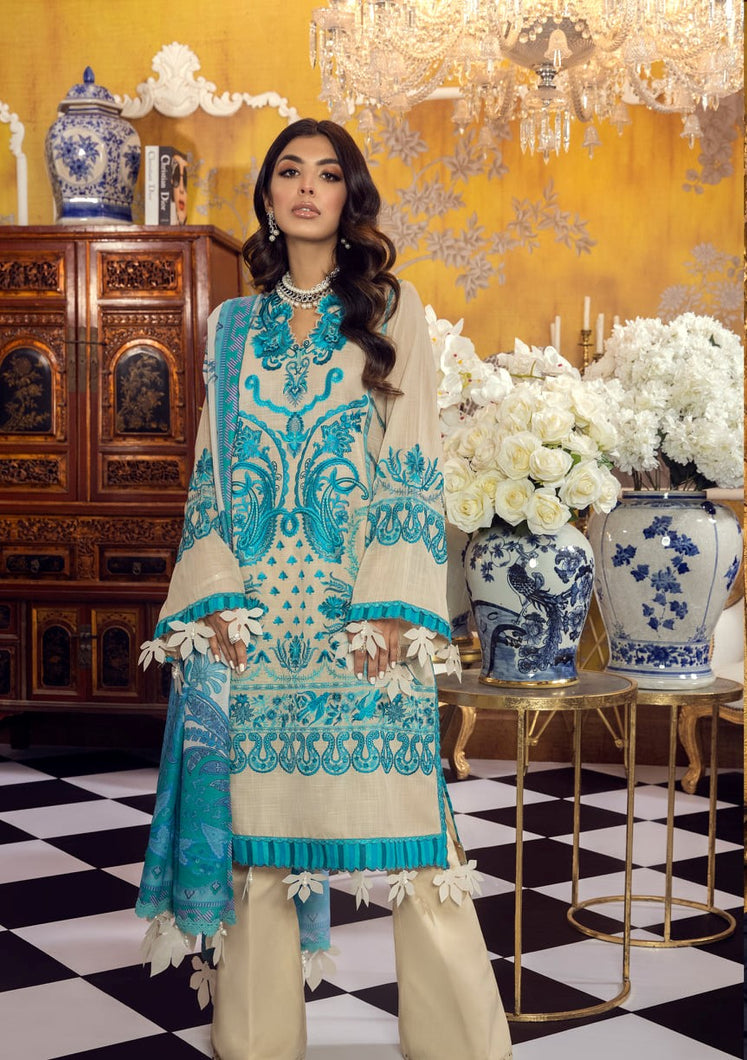 Buy SANA SAFINAZ | Muzlin Lawn 2021-03B BLUE from Lebaasonline Pakistani Clothes Stockist in the UK @ best price- SALE ! Shop Eid Dress 2021, Maria B Lawn 2021 Summer Suits, New Pakistani Clothes Online UK for Eid, Party & Bridal Wear. Indian & Pakistani Summer Lawn Dresses by SANA SAFINAZ in UK & USA at LebaasOnline