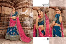 Load image into Gallery viewer, Blue Lehenga by Nakkashi 2020 - LebaasOnline