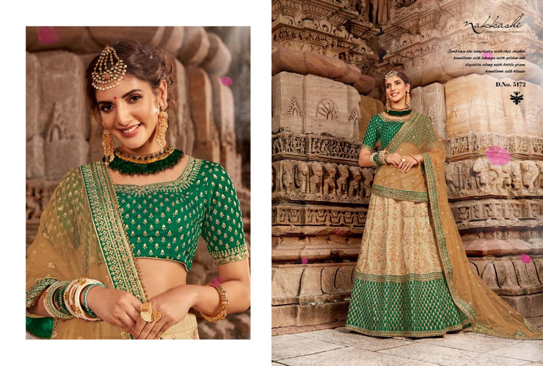 Golden Green Lehenga by Nakkashi 2020 - LebaasOnline