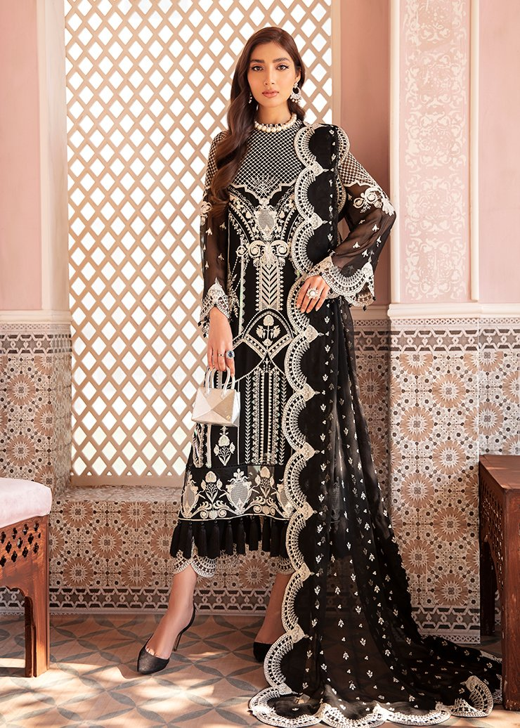 Afrozeh 2021 - Nauratan | BANO- Black : Buy Afrozeh  Pakistani clothing brand at our Online store. Lebaasonline Has all the latest Women`s Clothing Collection of Salwar Kameez, Indian & Pakistani  Bridal and Wedding Party attire Collection. Shop Afrozeh 2021 - Nauratan ORIGINAL DESIGNER DRESSES IN THE UK ONLINE.