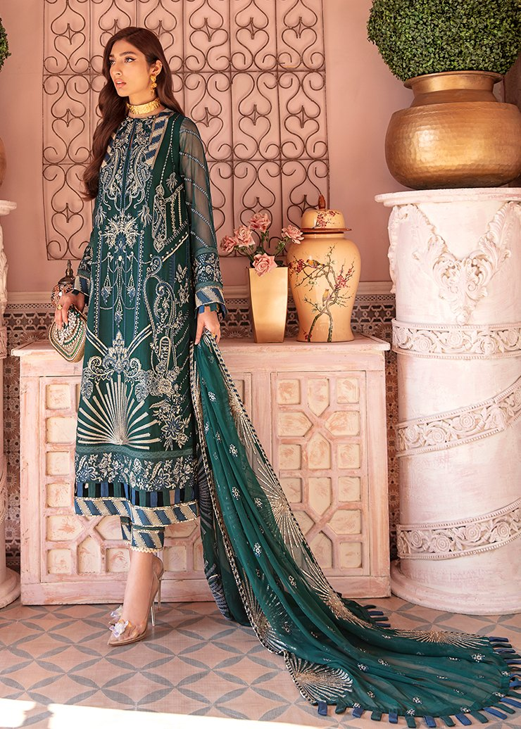 Afrozeh 2021 - Nauratan | NAQSH - Blue : Buy Afrozeh Pakistani clothing brand at our Online store. Lebaasonline Has all the latest Women`s Clothing Collection of Salwar Kameez, Indian & Pakistani  Bridal and Wedding Party attire Collection. Shop Afrozeh 2021 - Nauratan ORIGINAL DESIGNER DRESSES IN THE UK ONLINE.